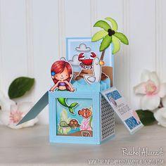 The Unpampered Stamper: Mermaid Box Card - MFT Stamps