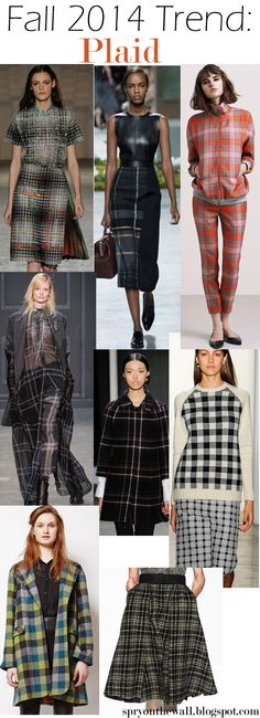 Spry On The Wall: Fall 2014 Trend - Plaid