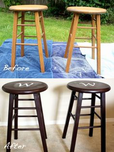 Definitely doing this to our bar stools when we move into the new house