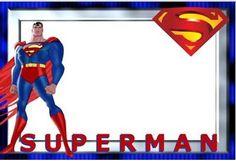 modelo de convite do  super homem