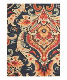 Take a look at this Blue Phoenix Floral Rug by Jaipur Rugs on #zulily today!