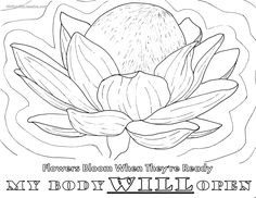 Birth Affirmation Coloring Page -Free Printable!- my body will open