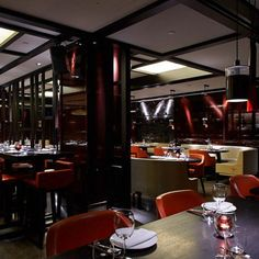 Both Hakkasan restaurants (Hanway Place and Mayfair) in London offer Chinese cuisine. The stylish Hakkasan restaurants in London are the ultimate place to dine. Cantonese Restaurant, Restaurant Bar, Asian Restaurants, London Restaurants, Interior Design Elements, Cafe Design, Photo Galleries, Places, Modern