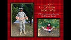 Christmas card for when he is deployed!
