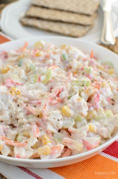 Slimming Eats Low Syn Seafood Salad - Slimming World and Weight Watchers friendly Slimming World Groups, Slimming World Recipes, Other Recipes, My Recipes, Low Carb Recipes, Lunch Recipes, Recipies, Sea Food Salad Recipes, Seafood Recipes