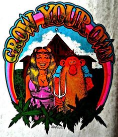 Original Vintage Psychedelic Earth Love Heart Iron On Transfer DAYGLO