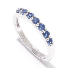 144-334 - NYC II® Round Gemstone Seven-Stone Stack Band Ring