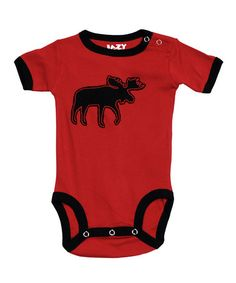 Take a look at this Red Moose Bodysuit - Infant by Lazy One on #zulily today!