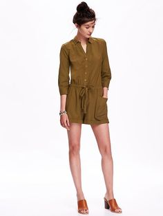 Slub-Weave Romper, A Pretty Find from Old Navy!