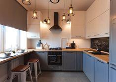 56m2-es lakás kényelmes konyhával és hálószobával üvegezett válaszfalakkal tolóajtókkal könnyítve a teret a nappali zónában