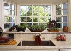 Superior Bay Window Over The Kitchen Sink U003c3 Raised From Countertop Level  Good Idea