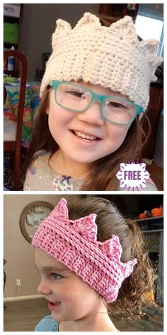 """Crochet Crown Ear Warmer Free Crochet Pattern - This could work for both women and girls, and """"Remember to put your crown on"""" gets a double meaning :) Crochet For Beginners, Crochet For Kids, Free Crochet, Knit Crochet, Knitting Patterns Free, Baby Knitting, Crochet Patterns, Free Pattern, Crochet Ideas"""
