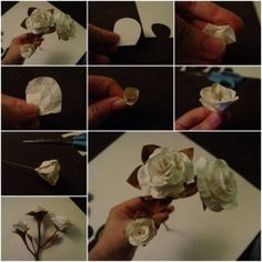 How To Make beautiful White Rose step by step DIY tutorial instructions thumb , How to, how to do, diy instructions, crafts, do it yourself, by Mary Smith fSesz