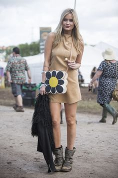 The Best, Muddiest Street Style From Glastonbury - ELLE.com