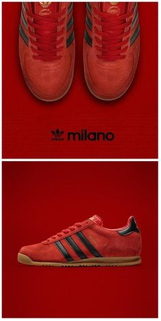 adidas Originals Milano: Red/Black WOMEN'S ATHLETIC & FASHION SNEAKERS http://amzn.to/2kR9jl3