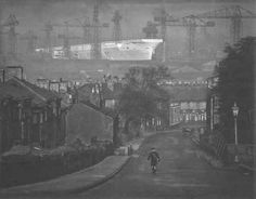'Birth of the Ark Royal': A stunning image by Edward Chambre Hardman which forms part of a new photographic exhibition shows the aircraft carrier under construction in a Liverpool shipyard Liverpool Docks, Liverpool History, Liverpool Home, Liverpool England, Liverpool Waterfront, Hms Ark Royal, Georgian Buildings, Down The River, Northern England