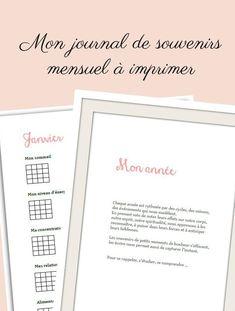 Journal de souvenirs mensuel - PDF à imprimer – Shirley Chiche