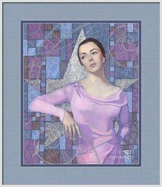 Acrylic Framed Print featuring the painting Elizabeth Taylor by Julia Khoroshikh  #elizabeth, #taylor, #lavender, #purple, #blue, #silver, #fashion, #icon, #iconic, #beauty, #fashion, #art-deco, #glam, #glamour, #glamourous, #luxurious, #refined, #elegant, #20thcentury, #woman, #style, #hollywood, #portrait, #celebrity, #painting, #detailed, #classical, #star, #movie, #art, #brunette, #moviestar, #traditional, #retro, #cinema, #actress, #50s, #60s, #old, #fine, #70s, #exquisite