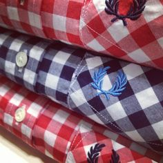 An absolute classic, the gingham check shirt has been a mainstay of the youth wardrobe for decades; its enduring appeal recognised by each generation. Trendy Mens Fashion, Mod Fashion, Urban Fashion, Skinhead Fashion, Skinhead Style, Fred Perry Polo, The Right Stuff, Gingham Shirt, Sharp Dressed Man