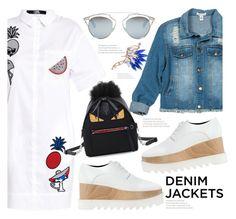 """Wardrobe Staple: Denim Jackets"" by fattie-zara ❤ liked on Polyvore featuring Karl Lagerfeld, Sans Souci, STELLA McCARTNEY, Fendi, Christian Dior, denimjackets and WardrobeStaples"