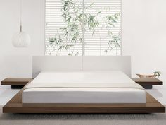 The zen inspired modern Tokyo platform bed is the essential bed for the feng shui bedroom.