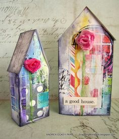 These houses are so beautiful! Very nicely done! Simon Says Stamp Monday Challenge