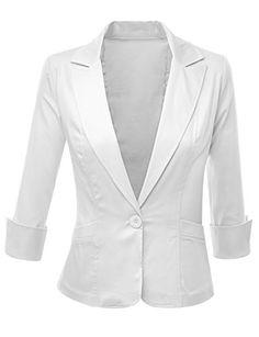 Doublju Women 3/4 Sleeve Wear to work Spandex Fabric Peaked Collar Blazer White Doublju http://www.amazon.com/dp/B00LZOPYZG/ref=cm_sw_r_pi_dp_aF1Gvb06H6BP2