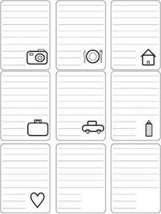 Printable journaling cards