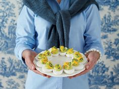 Tex-Mex Deviled Eggs - 50 Years of Southern Recipes - Southernliving. The South's iconic appetizer fuses with the nineties' obsession with Tex-Mex. Appetizers For A Crowd, Easy Appetizer Recipes, Party Appetizers, Yummy Appetizers, Egg Recipes, Cooking Recipes, Savoury Recipes, Party Recipes, Yummy Recipes