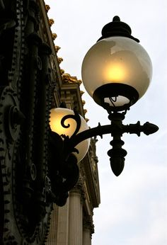 : Opera Garnier, Paris street lamp by suzie n Lantern Chandelier, Chandelier Lighting, Light In The Dark, Light Up, Paris Lights, Deco Luminaire, Lantern Post, Street Lamp, Paris Street