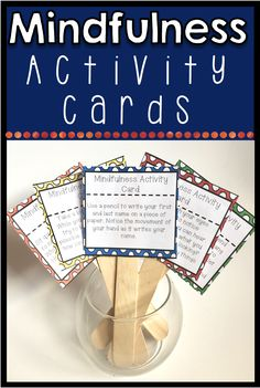 Looking for ways to help students calm down and be more mindful? Includes 42 activity cards to help students use mindfulness techniques to calm down and re-center. Great to use for brain breaks or transition times! Many of the cards incorporate movement, deep breathing and/or meditation. Each card prompt takes around a minute.