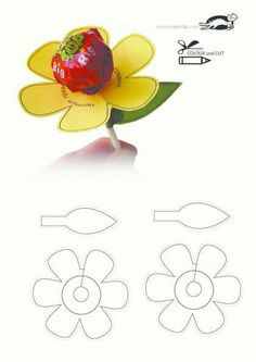 (one word on each petal) Use pattern to cut flower and leaf. Attach sucker to flower and leaf to flower. (Add Reunion Group Name, city & State to the leaf) printables for kids This Pin was discovered by Haz Valentines Bricolage, Valentine Crafts, Easter Crafts, Anniversaire Candy Land, Festa Moana Baby, Saint Valentin Diy, Diy And Crafts, Crafts For Kids, Marianne Design