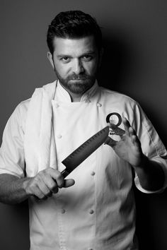 professional, no prop over-use like many chef portraits