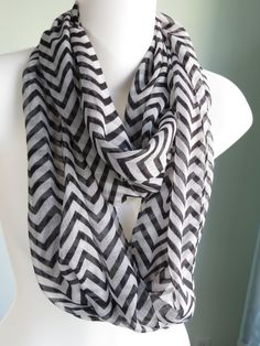 SALE Chevron Infinity Scarf Woman by DesignerScarvesWorld on Etsy, $10.99