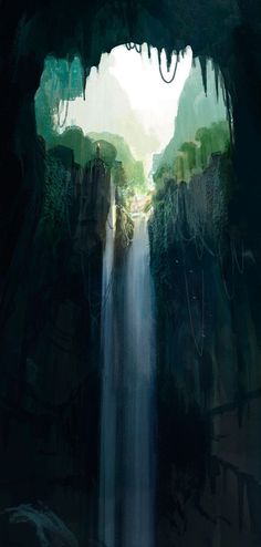 Sky light Waterfall, The Art Of Animation