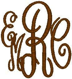 four letter monogram monogrammed on monograms initials and vinyl 21805