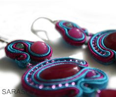 That's what you love this spring!!! Soon available in more colour options! Choose your colour combination #Sarasou #Basic #soutache #soutacheembriodery #dangleearrings