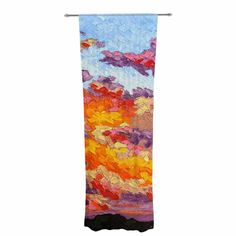 """Jeff Ferst """"Evening Multicolor Sky"""" Sunset Sky Decorative Sheer Curtain"""