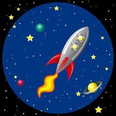 vector stylized retro rocket ship in space Free Vector Graphics, Free Vector Images, Vector Art, Retro Rocket, Vintage Space, Teacher Appreciation, Clip Art, Album, Illustration