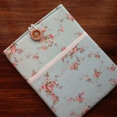Kindle DX, Kindle DX White, Samsung Galaxy Tab2 Cover Sleeve. Blue and Pink Floral Shabby Chic Print by LindaLeasBoutique on Etsy