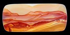 """Landscape agate    A concept foreign to the United States. Portions of Brazilian agates are selected for their """"landscape qualities"""" then fashioned into cabs. It's a German thing. By Captain Tenneal"""