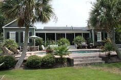 Sullivan's Island Gigi House simple pool and porch