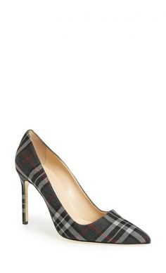 Manolo Blahnik BB Pointy Toe Pump Grey Plaid Fabric #womenstyle #highheels #musthave #perfectpair #blackfriday #cybermonday2018 #giftideas #classic Stiletto Heels, High Heels, Manolo Blahnik Hangisi, Cute Swimsuits, Fashion Heels, Tall Boots, Shoe Collection, Plaid Fabric, Designer Shoes