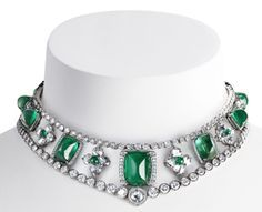 Romanov collar, designed by Faberge, is a part of a larger necklace he designed, which could be worn in one piece or 3 separate sections.