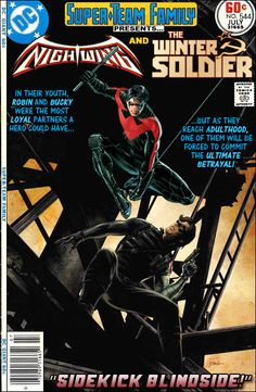 Nightwing and The Winter Soldier??? I do enjoy when DC & Marvel get together and weave a story with their characters. Spiderman & Super Man was great - these two heroes too, might be fantastic.