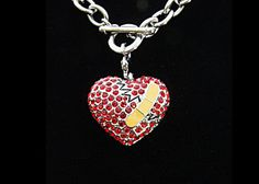 I WANT THIS! CHD awareness necklace (swarvoski) specifically for HLHS!