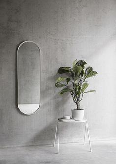 A minimalist wall mirror