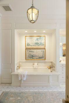 Master Bath by J Wilson Fuqua. Built in