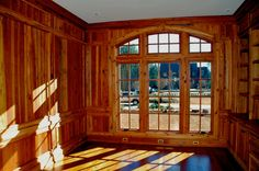 Mitch Ginn Design - Chris Parrott Homes - paneling - arched window  www.mitchginn.com