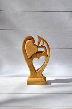 escultura de madera madera de la joyería decoración por NilaDolss